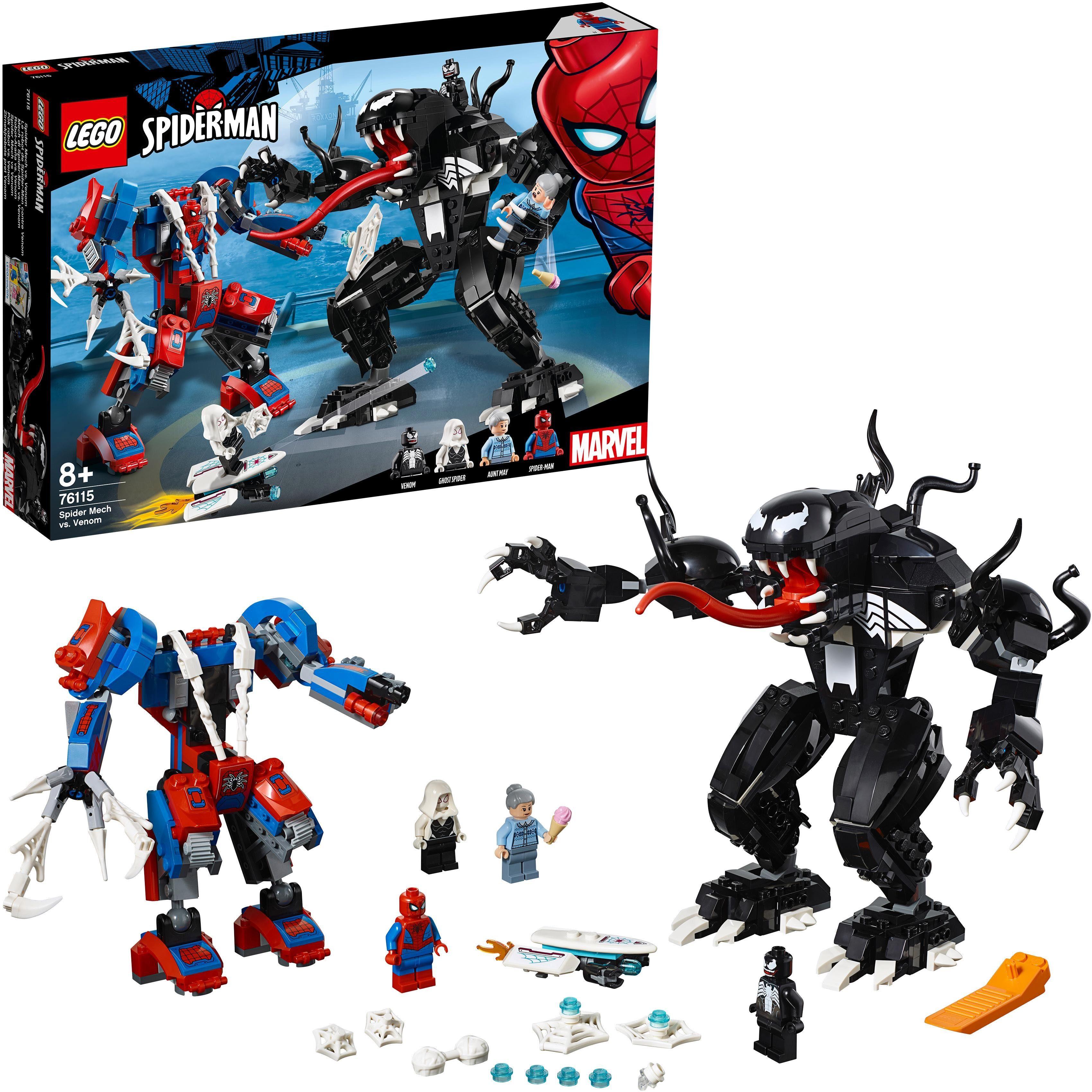 LEGO® Konstruktionsspielsteine »Spider Mech vs. Venom (76115), LEGO® Marvel Super Heroes™«, (604 tlg)