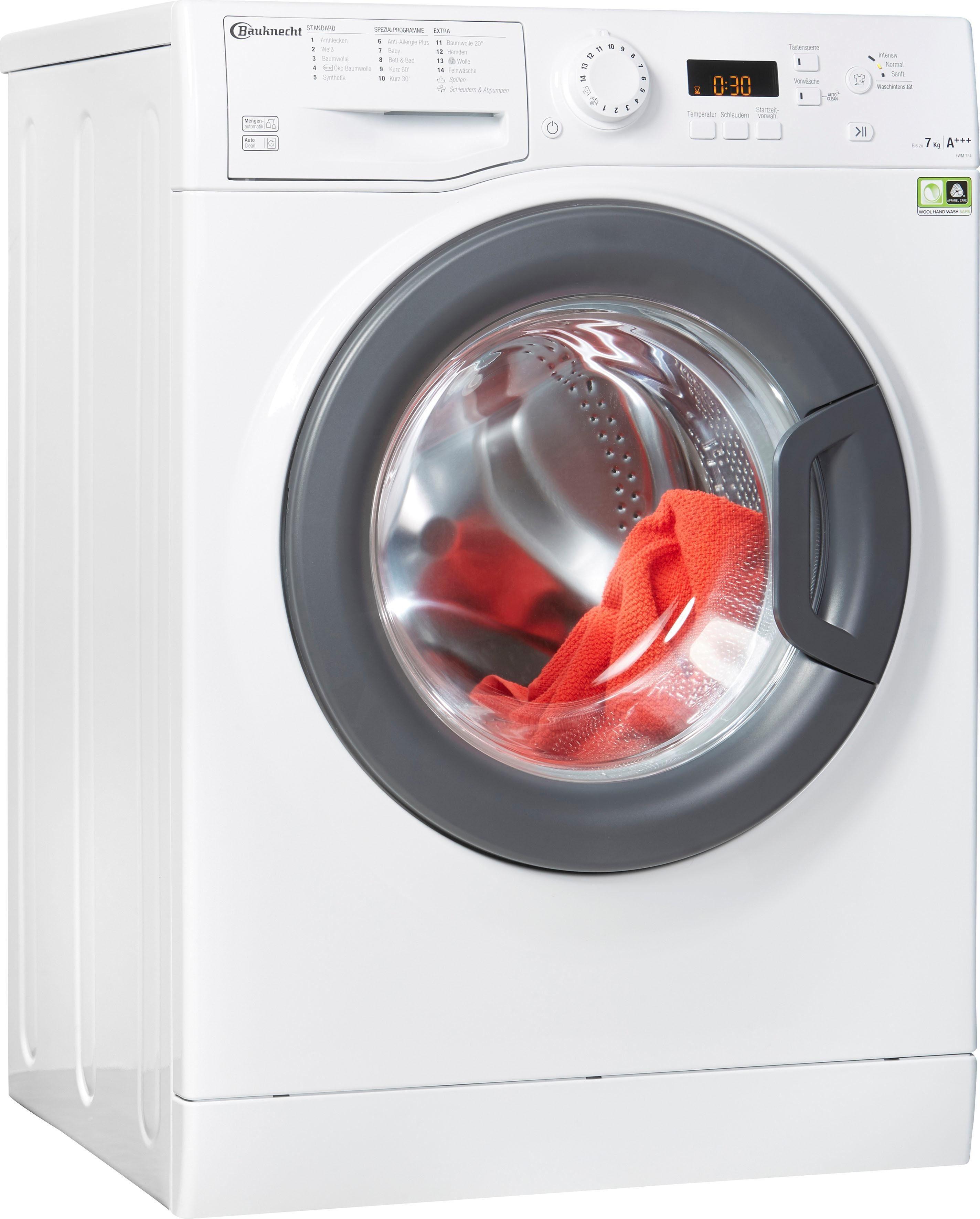 BAUKNECHT Waschmaschine FWM FWM 7F4, 7 kg, 1400 U/Min