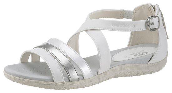 Mit »donna Geox Sandale Vega« Metallic riemchen Sandal IHqq8