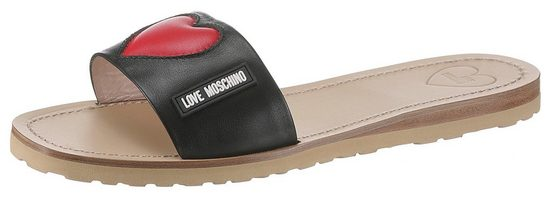 LOVE MOSCHINO Pantolette mit Herz-Applikation