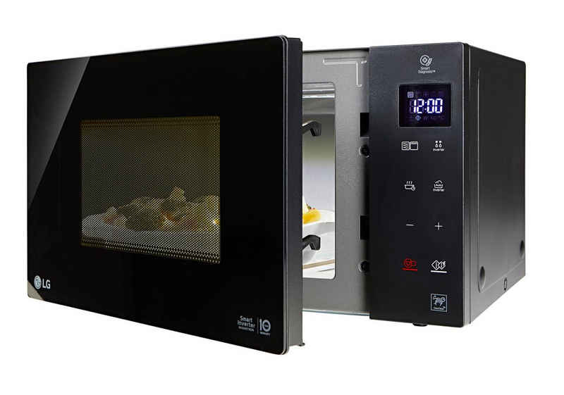 LG Mikrowelle MH 6535 GIS, Grill, 25 l, Smart Inverter Technologie, echte Glasfront