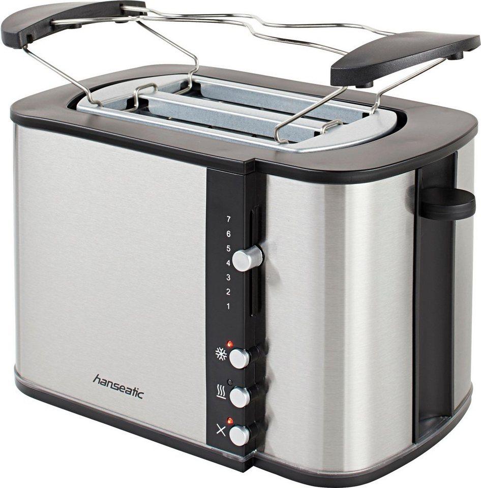 hanseatic toaster mit br tchenaufsatz 2 kurze schlitze. Black Bedroom Furniture Sets. Home Design Ideas