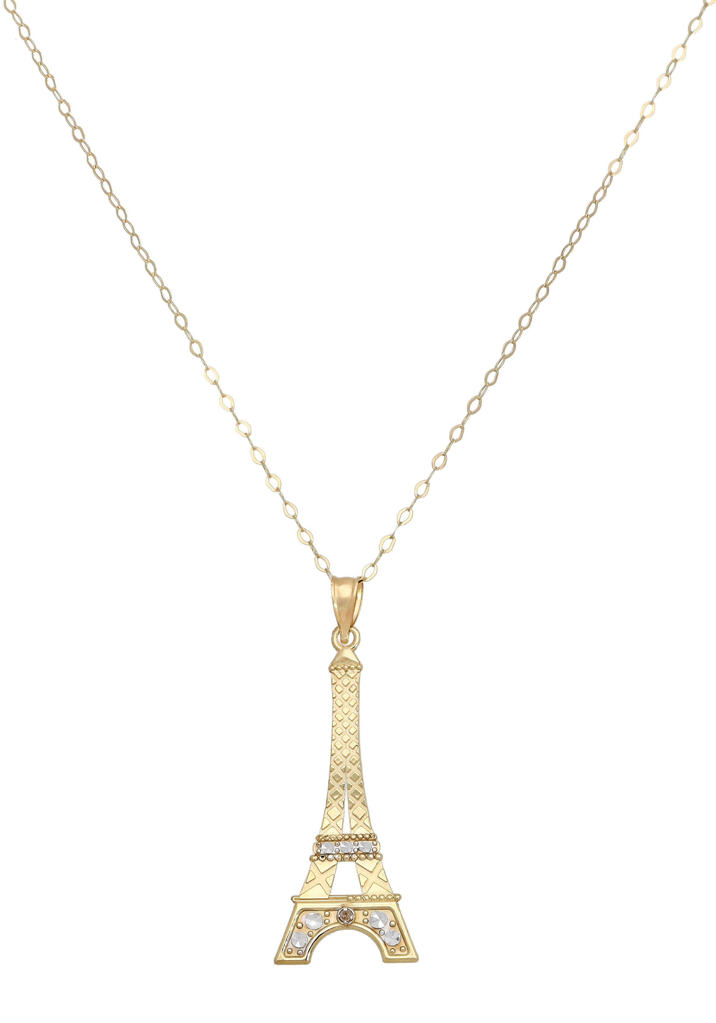 Firetti Kette mit Anhänger »Eiffelturmanhänger« 1 Diamant