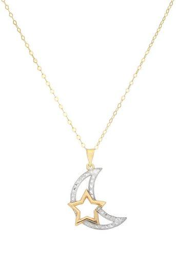 Vivance Kette mit Anhänger »Mond und Stern« 1x Diamant 0,005ct.