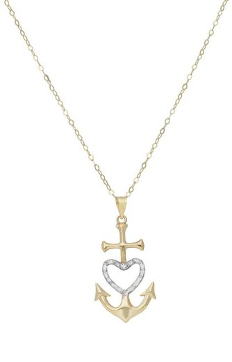 Vivance Kette mit Anhänger »Faith.Love.Hope Anhänger«, 1 Diamant = 0,005ct.
