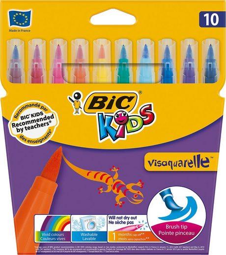 BIC Kids Dekorierstift »Visaquarelle Aquarell-Filzstifte, 10 Farben«