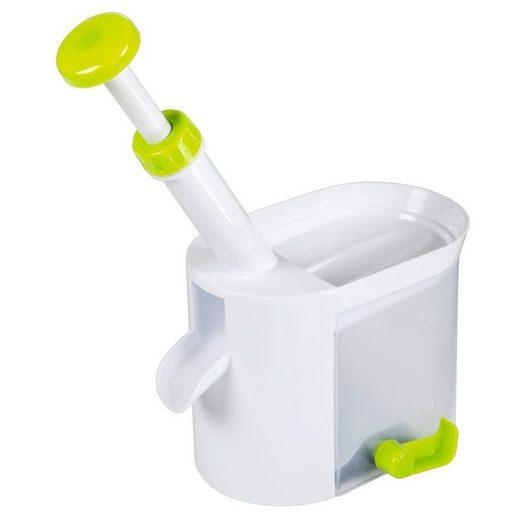Xavax Entkerner für Kirschen und Oliven, Kunststoff, Weiß/Grün
