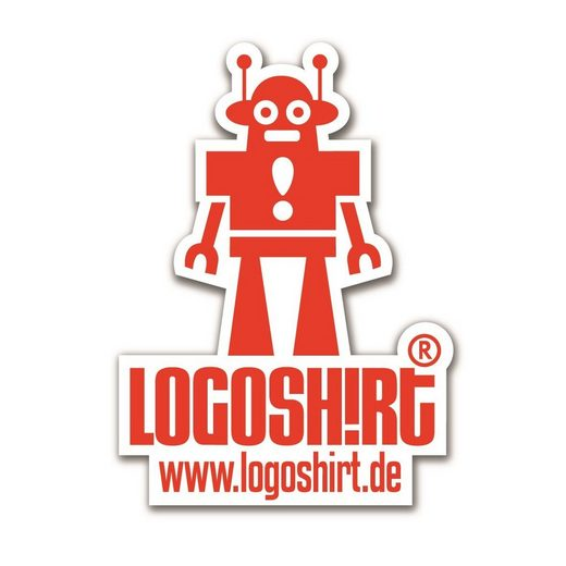 LOGOSHIRT Magnet mit coolem Roboter-Motiv