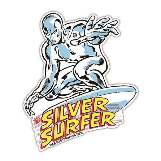 LOGOSHIRT Magnet in coolem Silver Surfer-Design