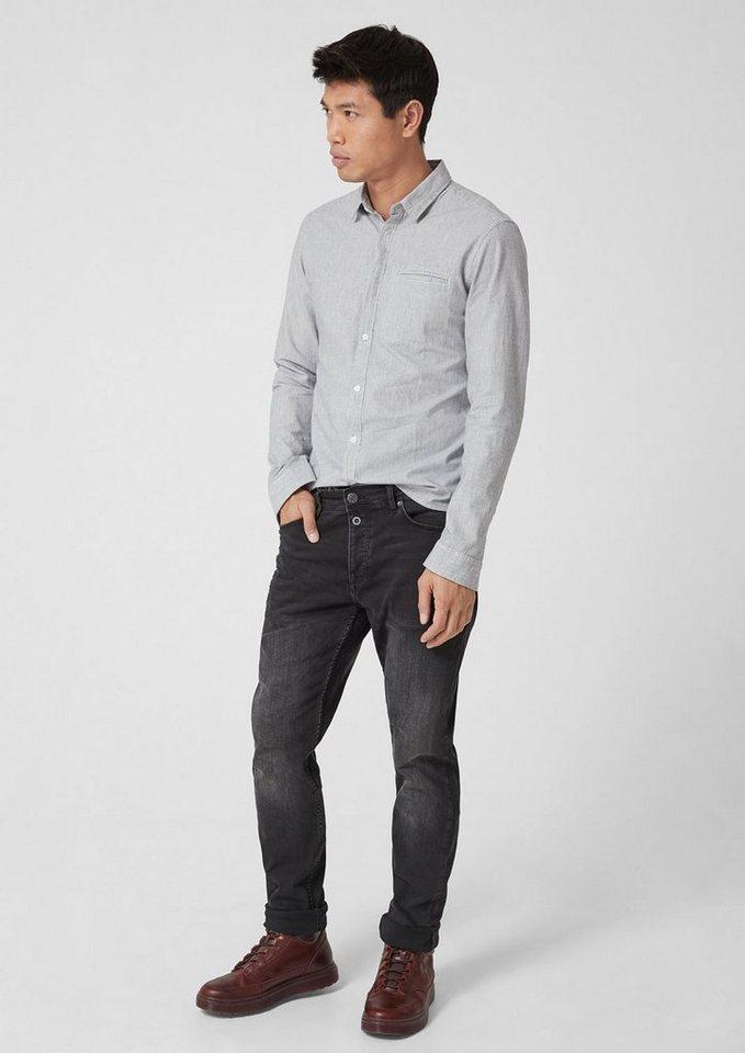Q/S designed by Extra Slim: Hemd mit Dobby-Streifen | Bekleidung > Hemden > Sonstige Hemden | Blau | Baumwolle | Q/S designed by