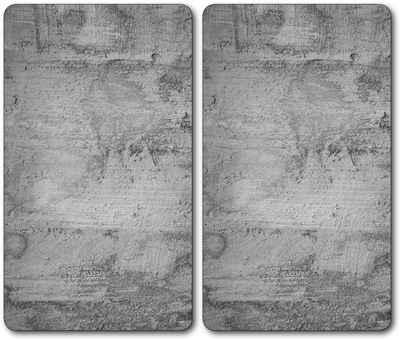 KESPER for kitchen & home Schneide- und Abdeckplatte »Beton«, ESG-Sicherheitsglas, (Set, 2 tlg), Mit 6 Elastikfüßen je Platte