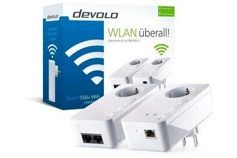 DEVOLO »DLAN 550+ Starter Kit« Adapter zu RJ-45 (Ethernet), Antenne
