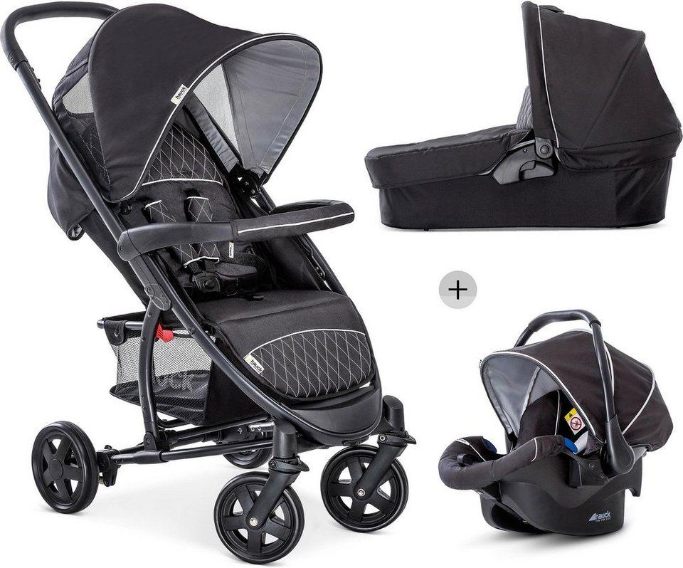 hauck kombi kinderwagen malibu 4 trio set black silver. Black Bedroom Furniture Sets. Home Design Ideas