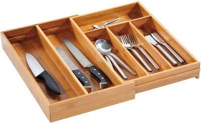 KESPER For Kitchen U0026 Home Besteckkasten, Variabel Ausziehbar, Bambus