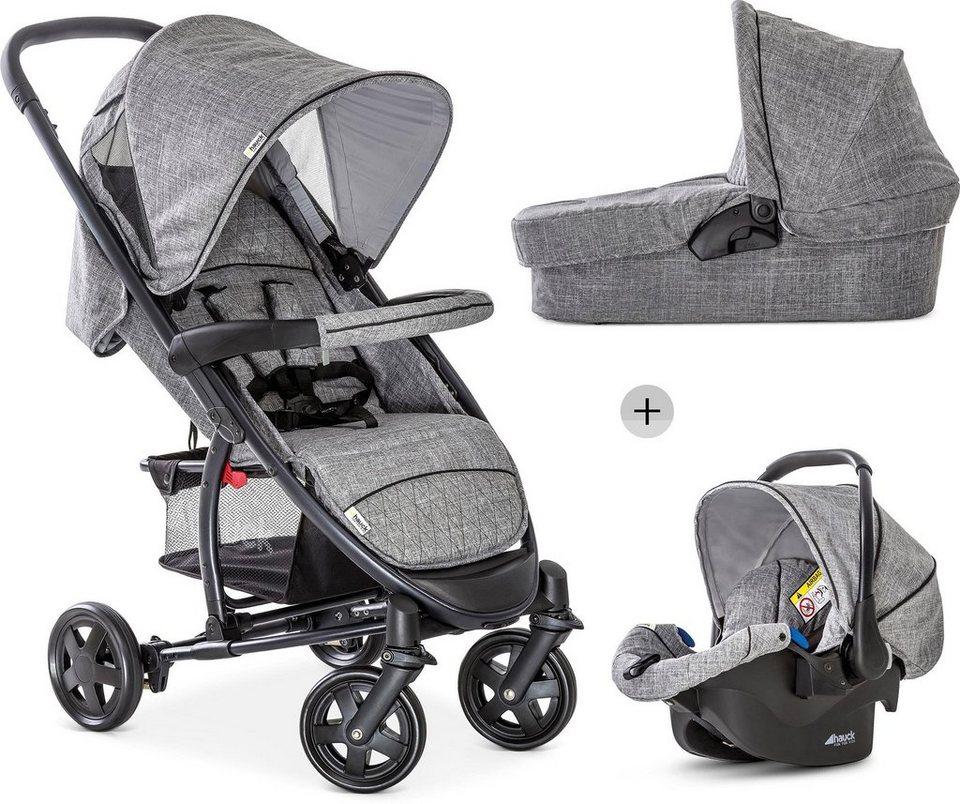 hauck kombi kinderwagen malibu 4 trio set melange grey mit babyschale online kaufen otto. Black Bedroom Furniture Sets. Home Design Ideas