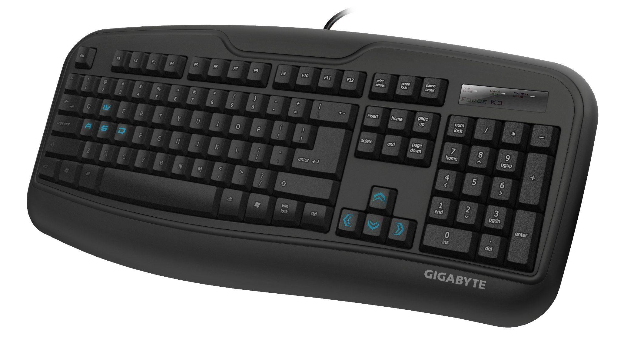 GIGABYTE Gaming Tastatur Force K3 »schwarz, USB«