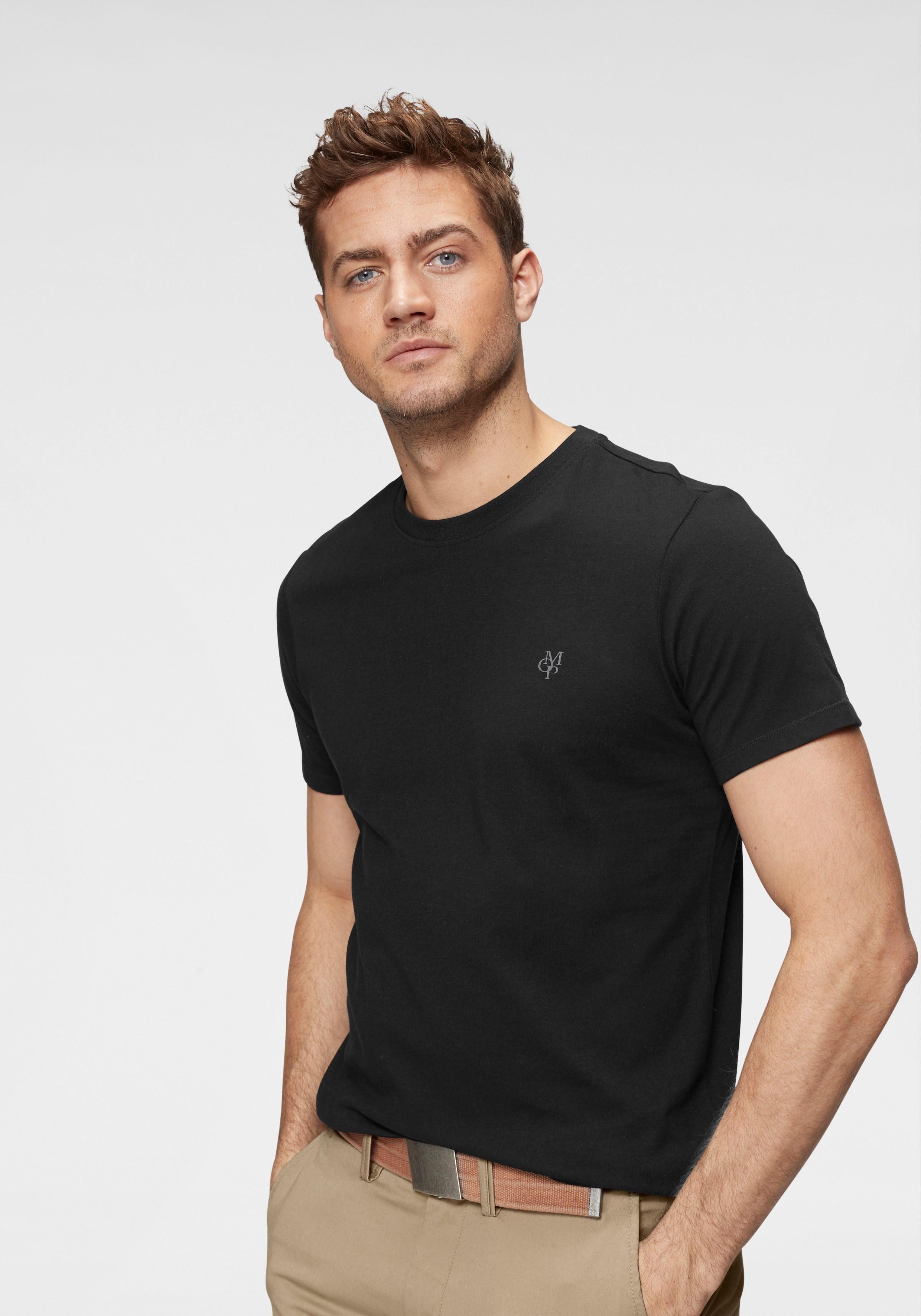 Marc O'Polo T-Shirt Ideal zum Unterziehen, Rundhalsausschnitt