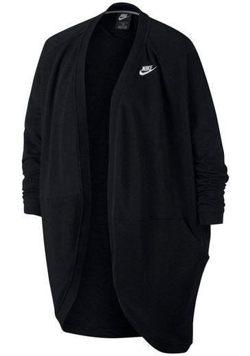 Nike Sportswear Sweatjacke »WOMEN NIKE SPORTSWEAR CLUB CARDIGAN FT PLUS SIZE« Große Größen