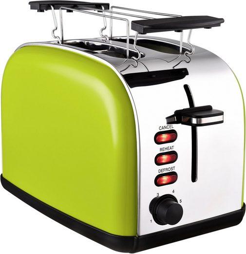 Team Kalorik Toaster TKG TO 1045 AG, 2 kurze Schlitze, 1050 W