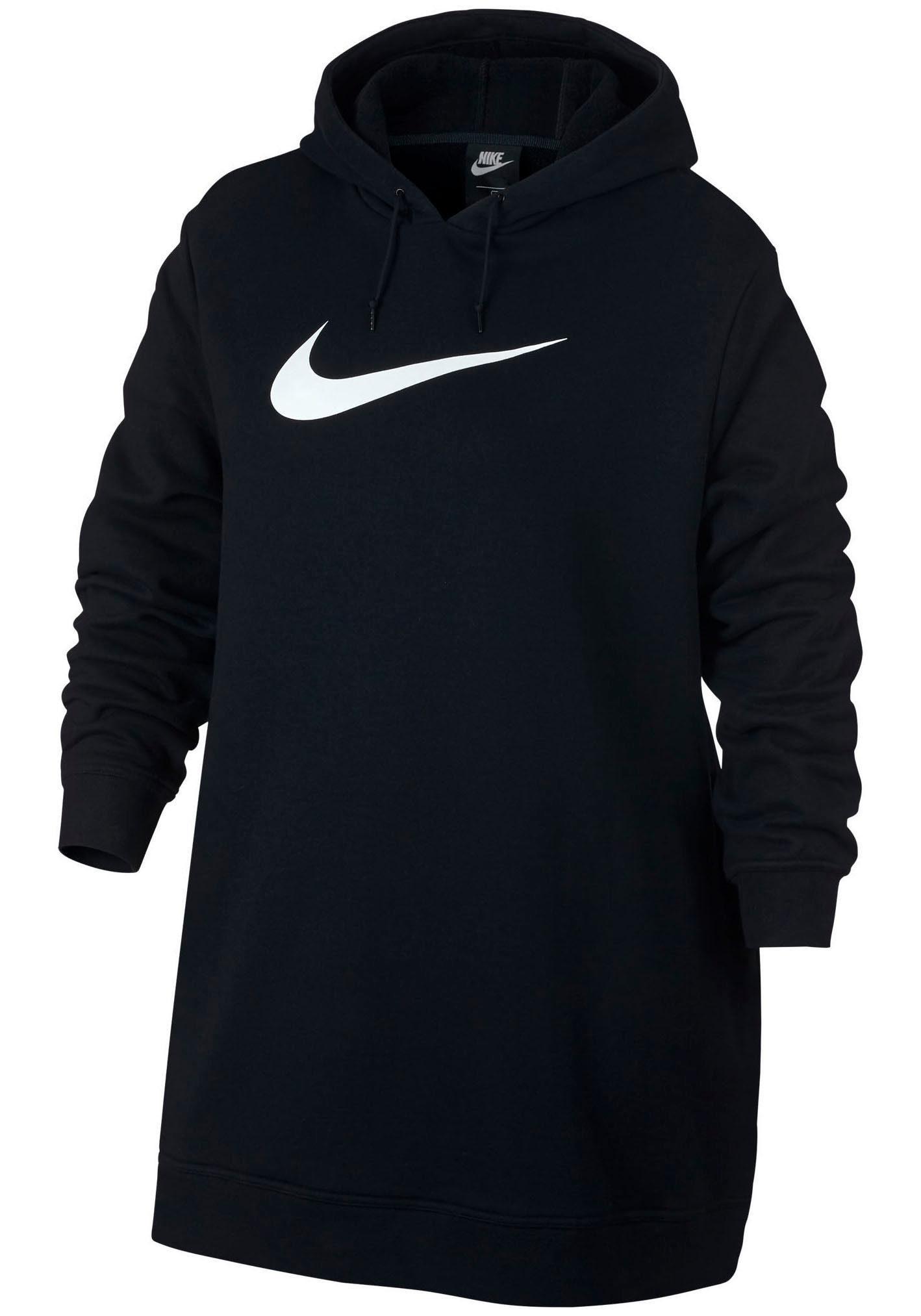 Nike Sportswear Sweatkleid »WOMEN NIKE SPORTSWEAR SWOOSH HOODIE OS FRENCHTERRY PLUS SIZE« Große Größen online kaufen | OTTO