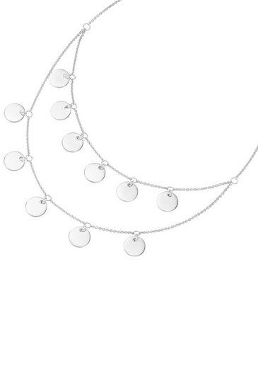 Firetti Collier »Kreise, rhodiniert, teilweise mehrreihig«