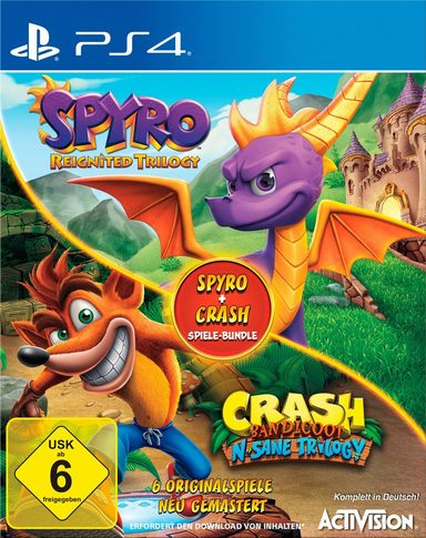 spyro crash playstation 4 disc mit spiel 1 digitaler. Black Bedroom Furniture Sets. Home Design Ideas