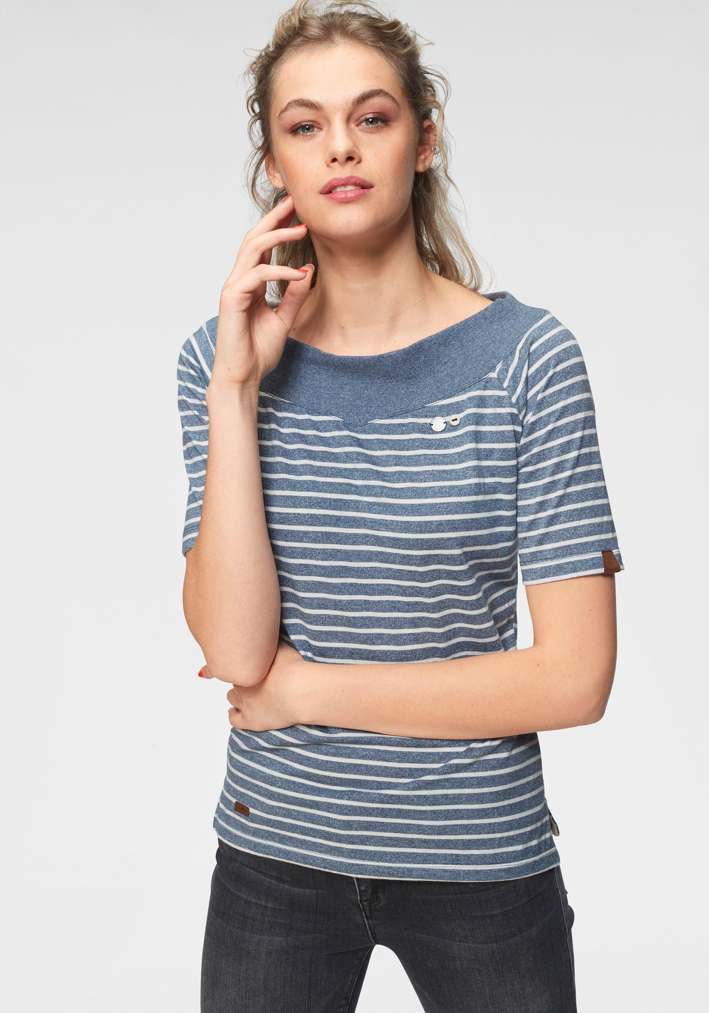 Ragwear T-Shirt »SEINA« im Streifen-Design