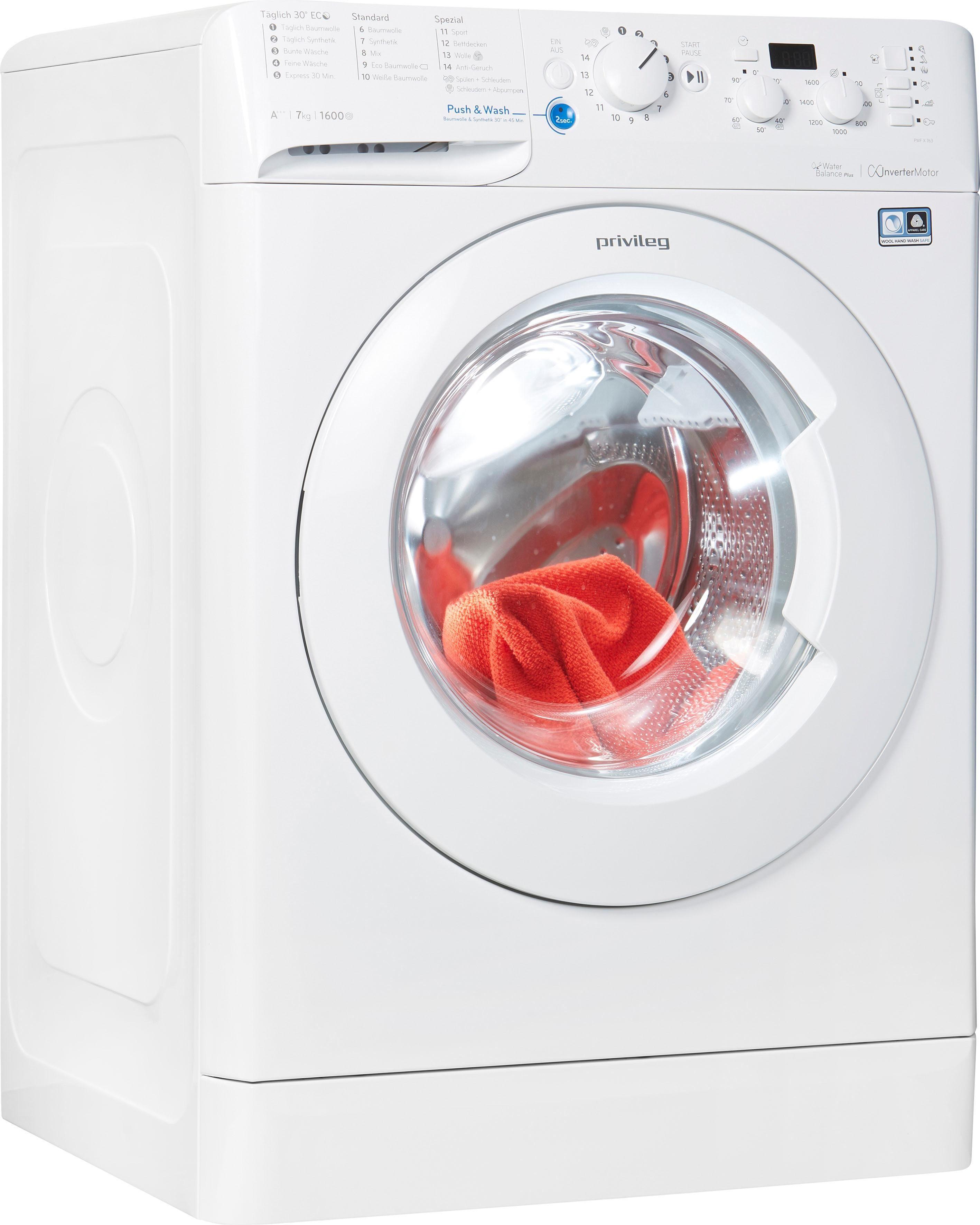 Privileg Waschmaschine PWF X 763, 7 kg, 1600 U/Min