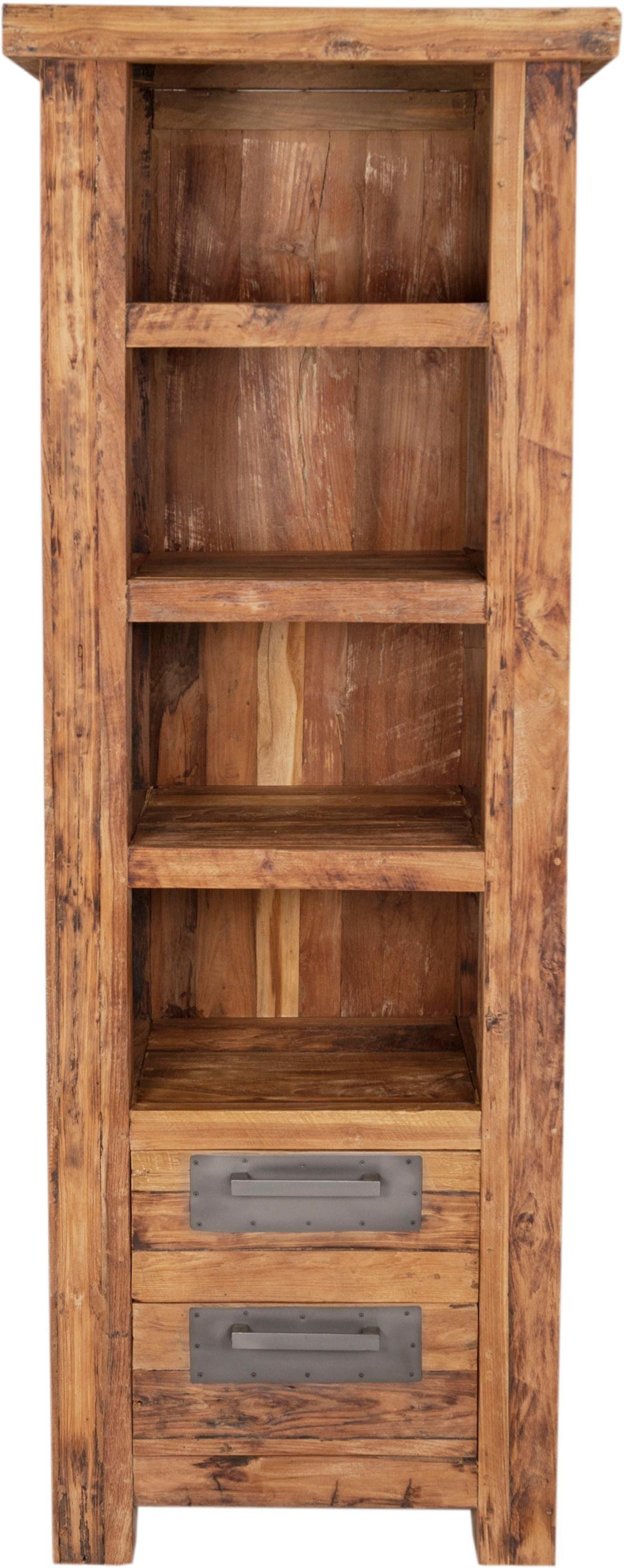 SIT Bücherregal »Coral« aus recyceltem Teak-Altholz, Höhe 195 cm