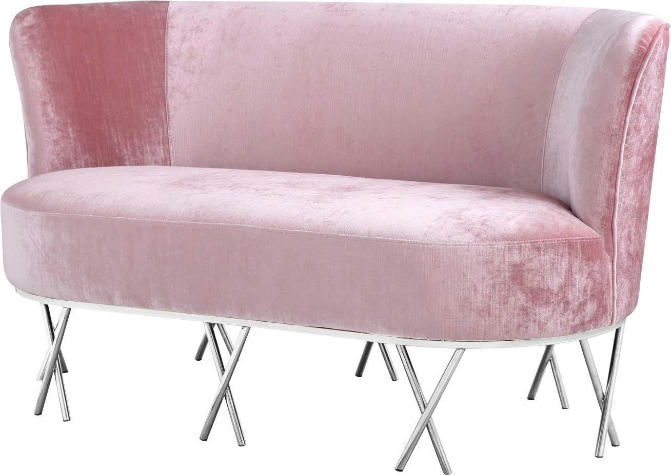 Home affaire Sofa »Scarlett« mit chromfarbenen Metallfüßen