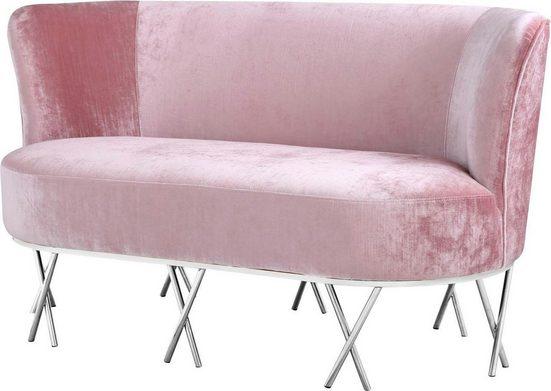 Leonique Sofa »Scarlett«, mit chromfarbenen Metallfüßen