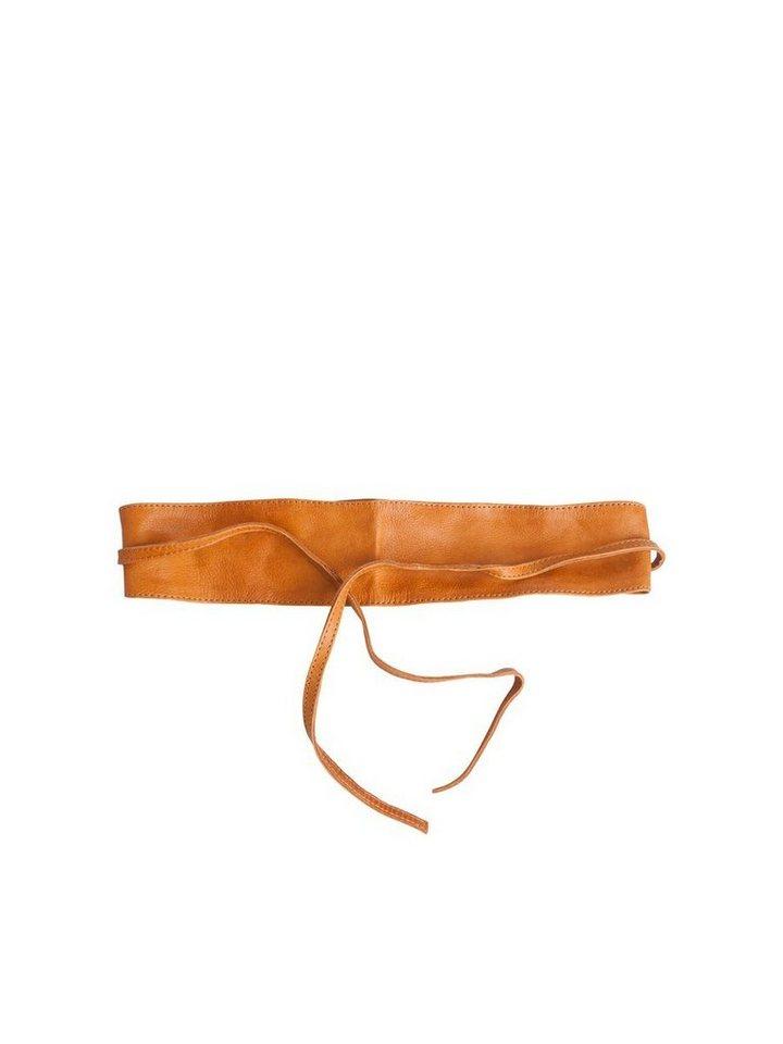 Damen Pieces Leder Taille Gürtel braun   05712065841706
