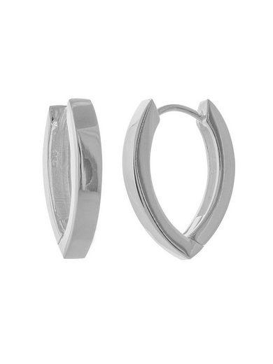 Adelia´s Paar Creolen »925 Sterling Silber Ohrringe - Creolen poliert«, 925 Silber poliert