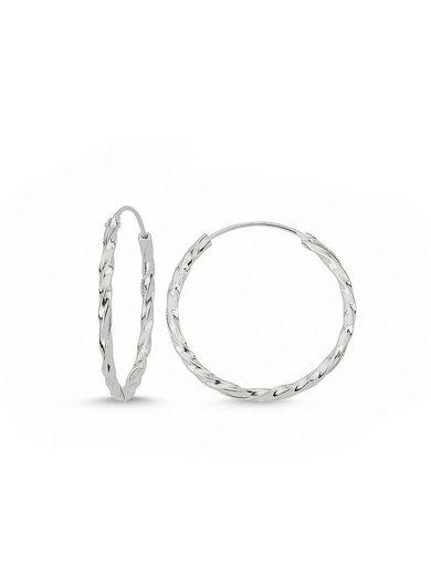 Adelia´s Paar Creolen »925 Sterling Silber Ohrringe - Creolen poliert 25 mm«, 925 Silber poliert