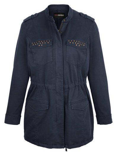 MIAMODA Jacke aus angenehmem Baumwoll-Stretch Material