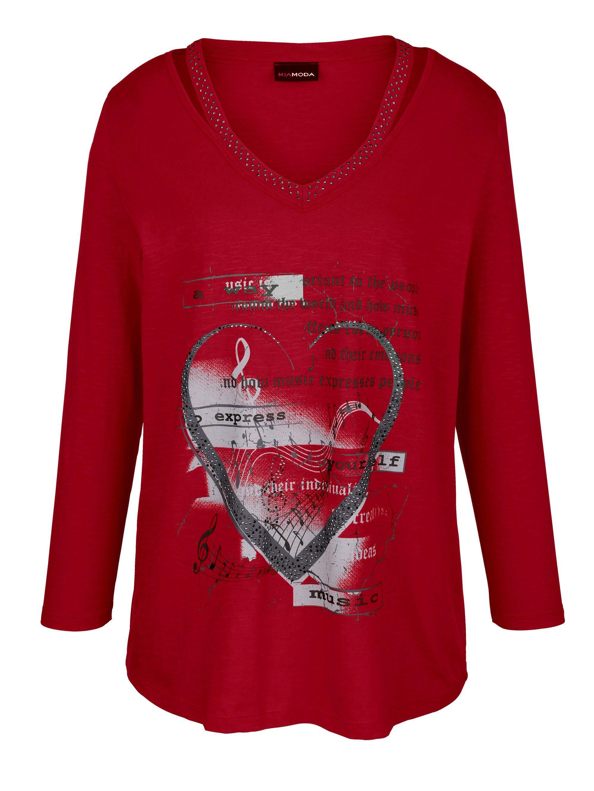 5222 QUEEN OF THE NIGHT Gothic Shirt Girlie Top mit Spitze von Spiral