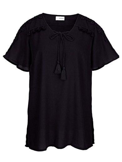 MIAMODA Bluse mit Spitze an den Ärmeln und im Schulterbereich
