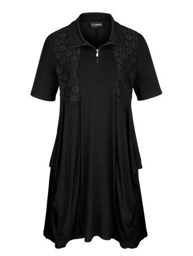 MIAMODA Jerseykleid in modischer Zipfelform