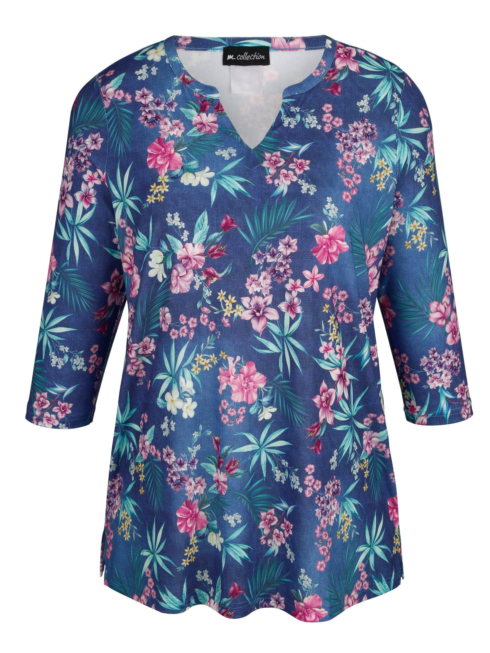 m. collection Shirt mit wunderschönen Druckdessin rundum