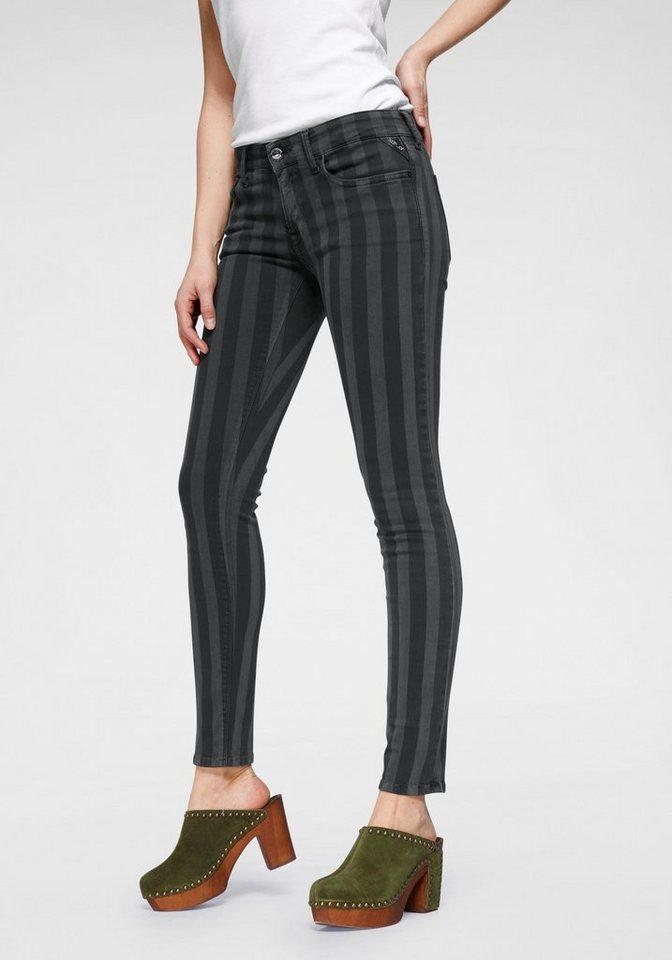 dca51fae39350 Replay Skinny-fit-Jeans »LUZ« mit trendigen Streifen online kaufen | OTTO