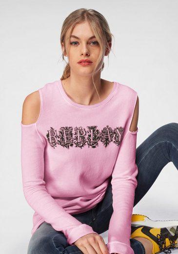 Replay Sweatshirt mit modischen Cut Outs