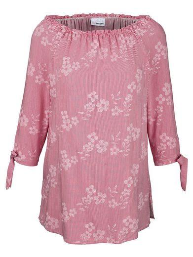 MIAMODA Bluse mit elastischem Ausschnitt