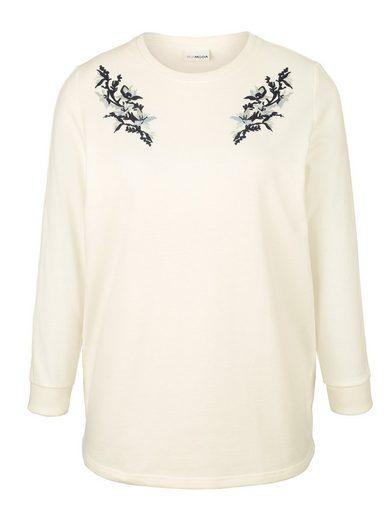 MIAMODA Sweatshirt mit Spitzendetails