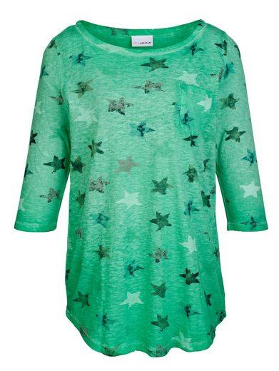 MIAMODA Shirt mit buntem Sternendruck