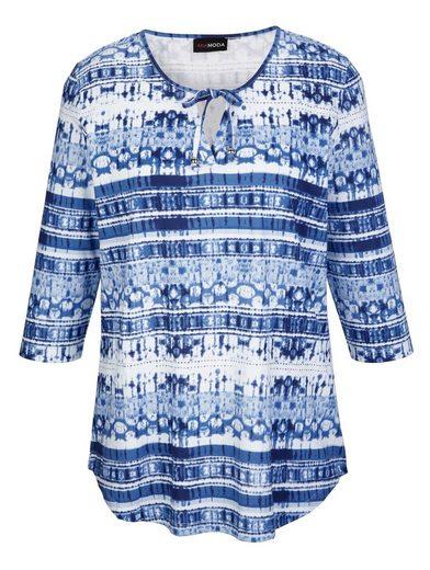 MIAMODA Shirt mit Bändern am Ausschnitt