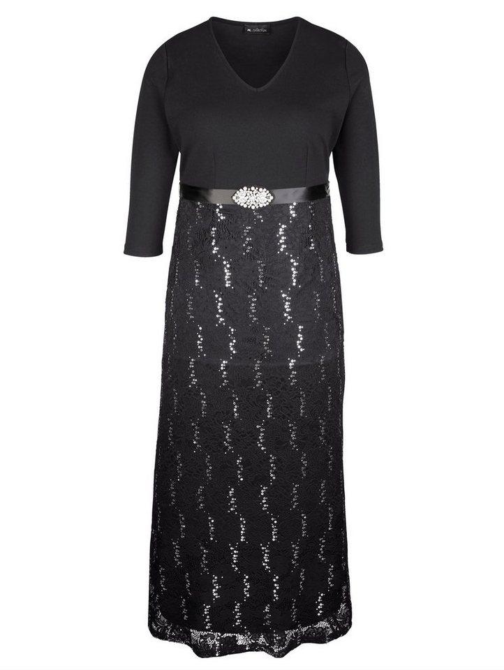 m. collection Abendkleid in edler Qualität | Bekleidung > Kleider > Abendkleider | Schwarz | Polyester - Elasthan - Polyamid | m. collection
