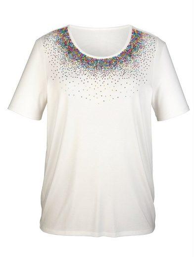m. collection Shirt mit Pailletten