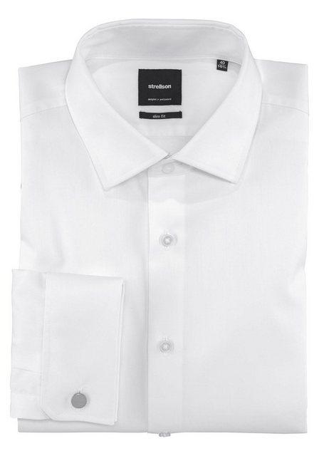 Strellson Smokinghemd Umschlagmanschette, inklusive Knöpfe   Bekleidung > Anzüge & Smokings > Smokings   Weiß   Strellson