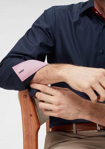 Mit »luxor Modern Businesshemd Brusttasche Olymp Kontrastbesatz Fit« Bügelfrei FqYw6Hn
