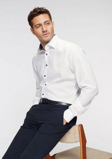 Kontrastdetails Bügelfrei Olymp Fit« Businesshemd Modern Lange Ärmel »luxor Extra ww8g1Pxq